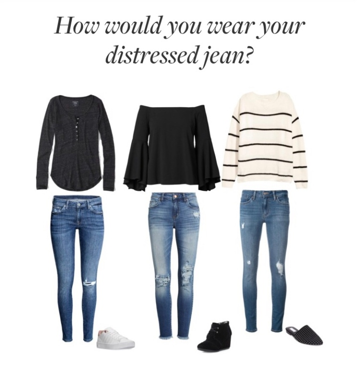 How would you wear your distressedjean?
